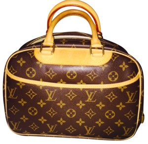 Louis Vuitton Leather Satchel in Monogram