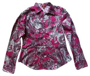 Talbots Button Down Shirt Fuchsia