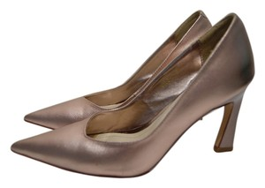Dior Leather Metallic Rose Gold Pumps