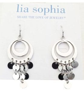 Lia Sophia NEW Lia Sophia Silver Dangling Earrings Highly-Polished Rhodium-Plated. These earrings are a Match to My Listed Necklace.