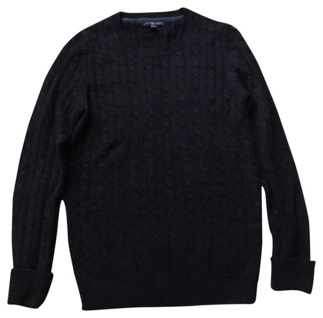 Preload https://item4.tradesy.com/images/gap-black-long-large-tall-cableknit-sweaterpullover-size-12-l-5634643-0-0.jpg?width=400&height=650