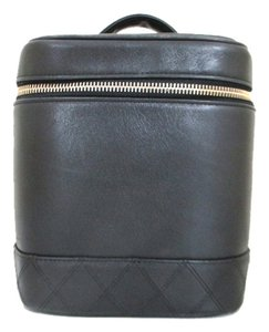 Chanel Vintage Vanity Satchel Black Clutch