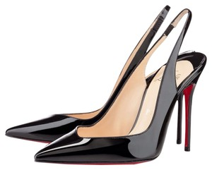 Christian Louboutin Patent Leather Black Mules
