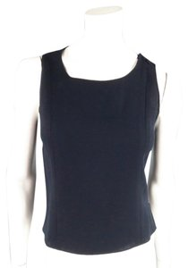 Chanel Wool Sleveless Dressy Office Top Navy