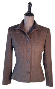 Ralph Lauren Collection Cashmere Leather Brown Riding Jacket