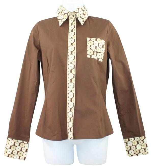 Preload https://item1.tradesy.com/images/printed-trim-stretch-cotton-blend-shirt-blouse-1-button-down-top-size-4-s-5635360-0-0.jpg?width=400&height=650