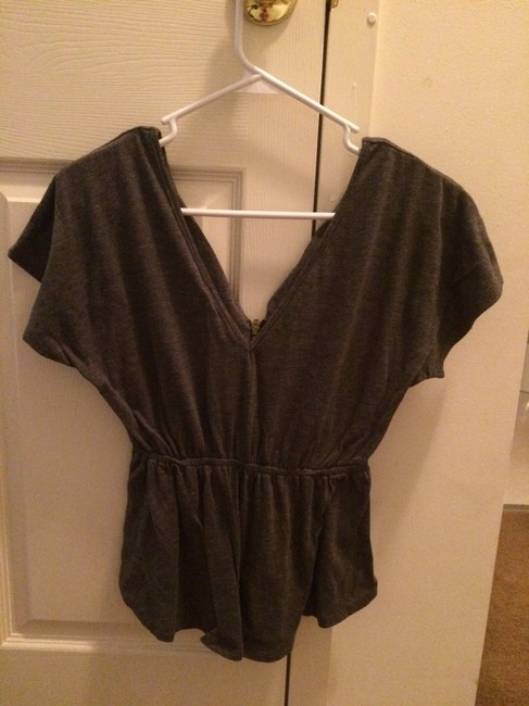 Urban Outfitters Zipper Flowy Small Top Grey
