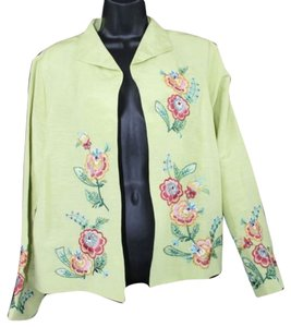 Coldwater Creek Linen Silk Blazer