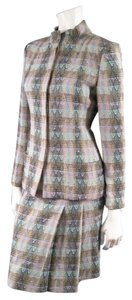 Chanel CHANEL Size 6 Multi-Color Wool Blend Bouce Textured Tweed Skirt Set 1998
