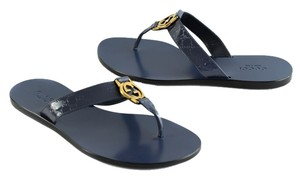 Gucci Gg Thong Patent Leather 344938 Bs740 Patent Leather Tory Burch Blue Sandals