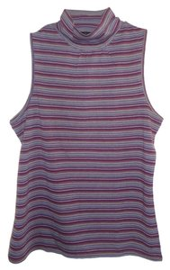 Kenneth Cole T Shirt Purple Turquoise Stripe