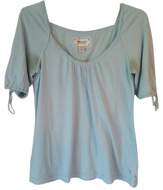 American Eagle Outfitters Loose Favorite Top Baby Blue