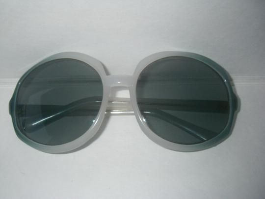 Other Vintage Italian Sunglasses Original 1960s 1970s Oversize Fashion Butterfly Blue Frame Made in Italy
