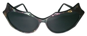 Other Cat's Eye Sunglasses Deco Black Mother of Pearl Frame Rare & Awesome Original Vintage Frame France EXC