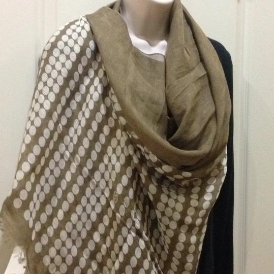 Tory Burch Camel Marble Dot Scarf