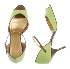 J.Crew J. Crew Peep Toe Stiletto Key Lime Pumps
