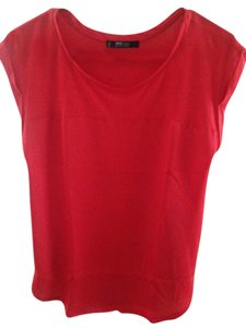 Mango Silk Cotton Top Red