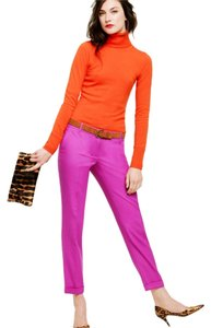 J.Crew Pop Of Color Colorful Wool Cuffed Hot Pink Pink Bright Magenta Dahlia Capri/Cropped Pants Bright Dahlia