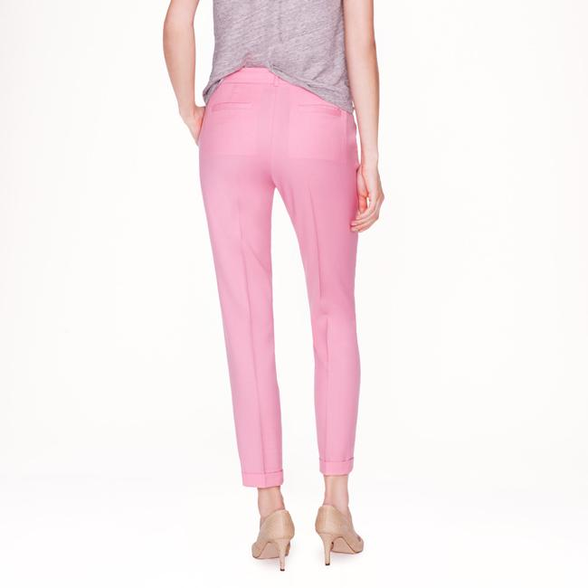 J.Crew Pop Of Color Colorful Wool Cuffed Hot Pink Pink Magenta Capri/Cropped Pants Bright Dahlia