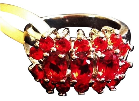 Other Vivid Red Cherry Quartz 925 Sterling Silver Ring 7
