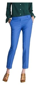 J.Crew Bright Pop Of Color Capri/Cropped Pants Blue