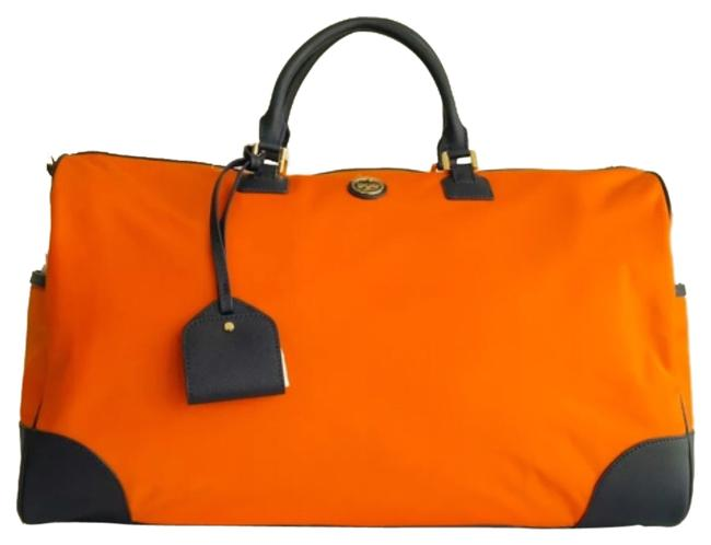 Item - Dena Duffel - Orange/Navy Orange/Navy Nylon Weekend/Travel Bag