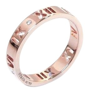 Tiffany & Co. 18K Rose Gold Atlas Pierced Ring with Diamonds