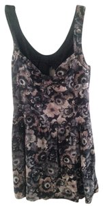 Zara short dress Gray Floral on Tradesy