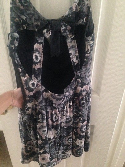 new Zara Gray Floral Trf Dress - 29% Off Retail
