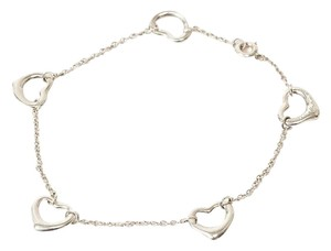 Tiffany & Co. Authentic Tiffany & Co. Sterling Silver Elsa Peretti Open Heart Charm Bracelet