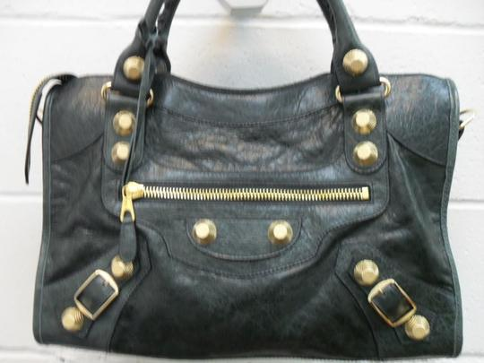Balenciaga Studded Leather Hobo Bag