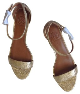 Tory Burch Saharian Gold Wedges