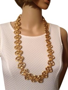 Chanel CHANEL RARE VINTAGE '94A GOLD PLATED NECKLACE /BELT