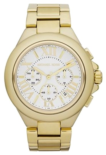 Preload https://item1.tradesy.com/images/michael-kors-gold-camille-tone-chronograph-watch-5639425-0-0.jpg?width=440&height=440