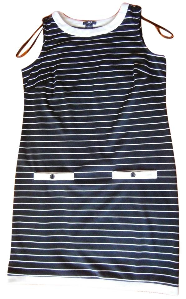 62cad33769603 JBS Limited Black and White Sleeveless Striped Above Knee Short ...