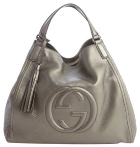 Gucci Soho 282309 Satchel in Pewter