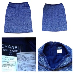 Chanel Skirt Blue