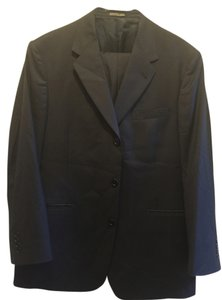 Kenneth Cole Kenneth Cole Men's Black pinstripe Suit 44R