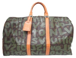 Louis Vuitton Monogram Keepall 50 Graffiti Travel Boston Keepall 50 Keepall 50 Grafatti Keepall Monogram 50 Keepall Travel 50 60 Vert Travel Bag