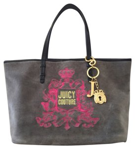Juicy Couture Tote in Gray/pink