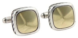 David Yurman 14196 - David Yurman Square Shape Cufflinks in Sterling Silver 14k & 18k Gold