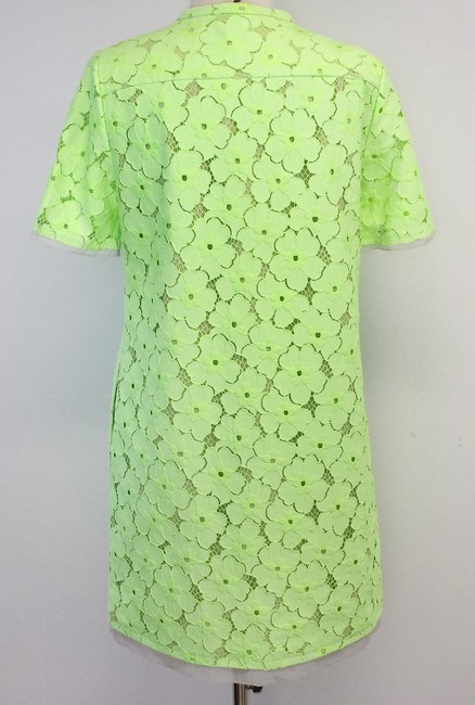 Diane von Furstenberg short dress Neon Green Floral Eyelet on Tradesy