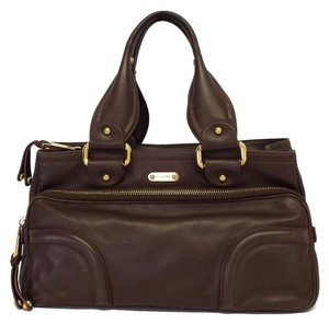 Marc Jacobs Chocolate Brown Leather Handbag Hobo Bag