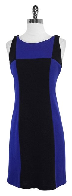 MILLY short dress Blue Black Colorblock Sleeveless on Tradesy