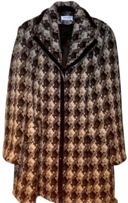 Nine West Or Coat Browns and Ecru houndstooth Blazer