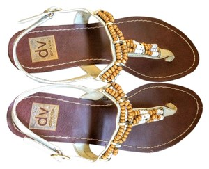 Dolce Vita Flats Brown-Tan Sandals