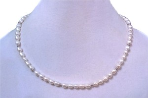 Honora 6x7.5MM Fresh Water Pearl Necklace Solid .925 Ball and Clasp 19.25