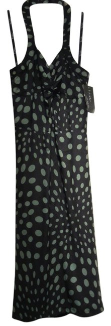 Preload https://item4.tradesy.com/images/nicole-miller-black-with-green-dots-blackgreen-silk-halter-midi-mid-length-cocktail-dress-size-8-m-5641033-0-0.jpg?width=400&height=650