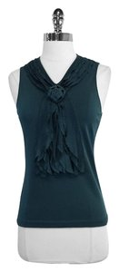 Valentino Green Knit Sleeveless Top