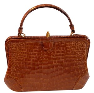 Nettie Rosenstein Alligator Satchel